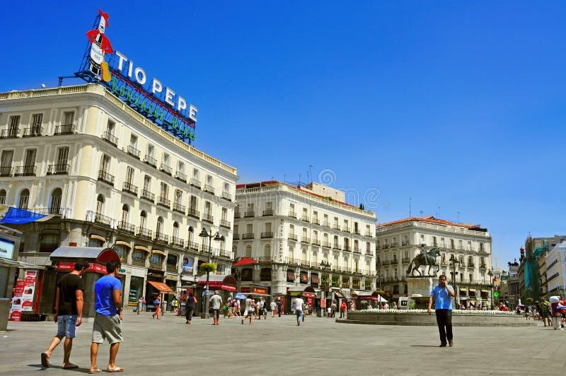 Puerta del Sol a Madrid, Spagna immagine stock libera da diritti