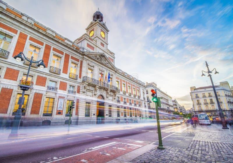 Puerta del Sol Square stock afbeeldingen