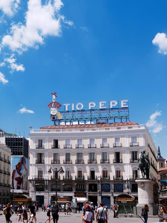 Puerta del Solen?ide, Madrid, Spain imagem de stock royalty free