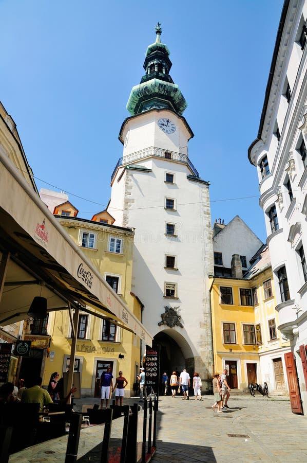 Puerta Del St. Michaels, Bratislava Foto editorial - Imagen de ...