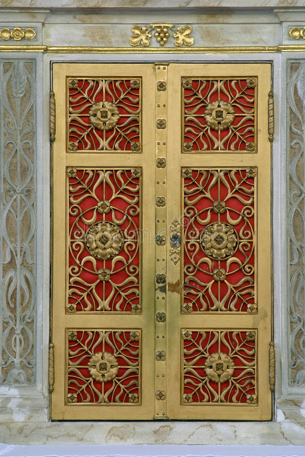 Puerta del tabernáculo imagen de archivo