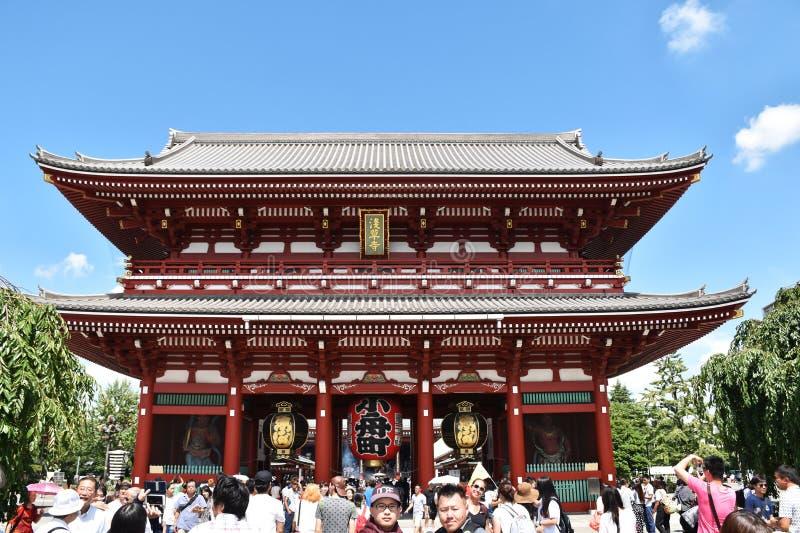 Puerta del trueno del 5 de septiembre 2016 en el templo de Asakusa Senso-ji en Tokio, Japón foto de archivo libre de regalías