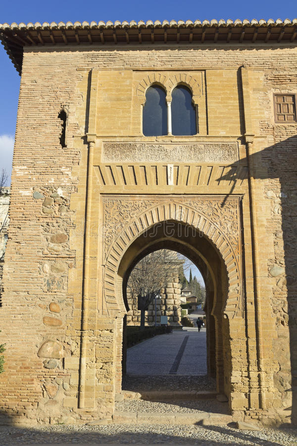Puerta del vino alhambra foto de archivo