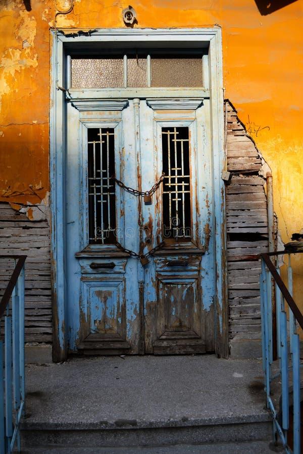 Puerta del vintage fotografía de archivo