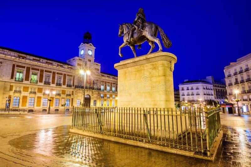 Puerta Del Zol w Madryt fotografia stock