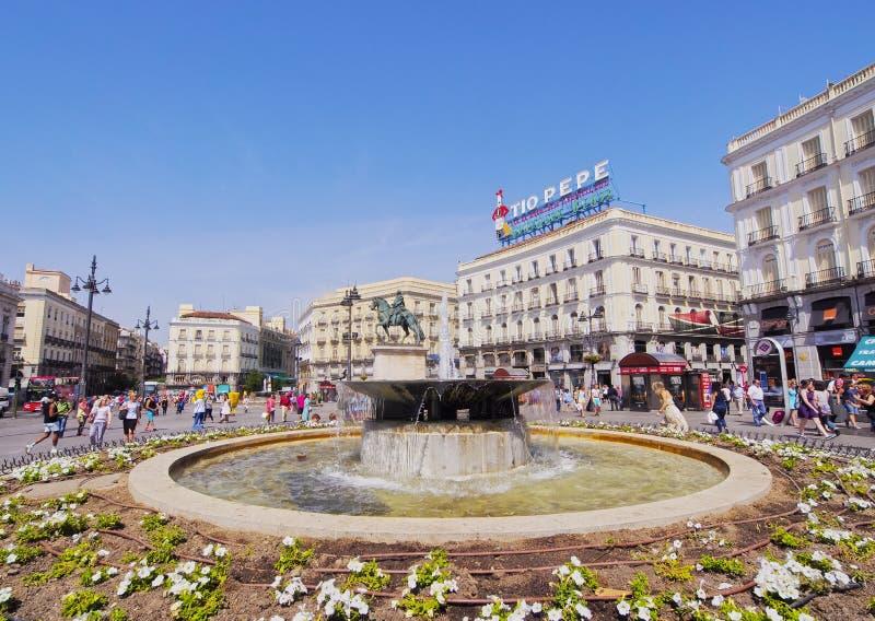 Puerta Del Zol w Madryt zdjęcie stock