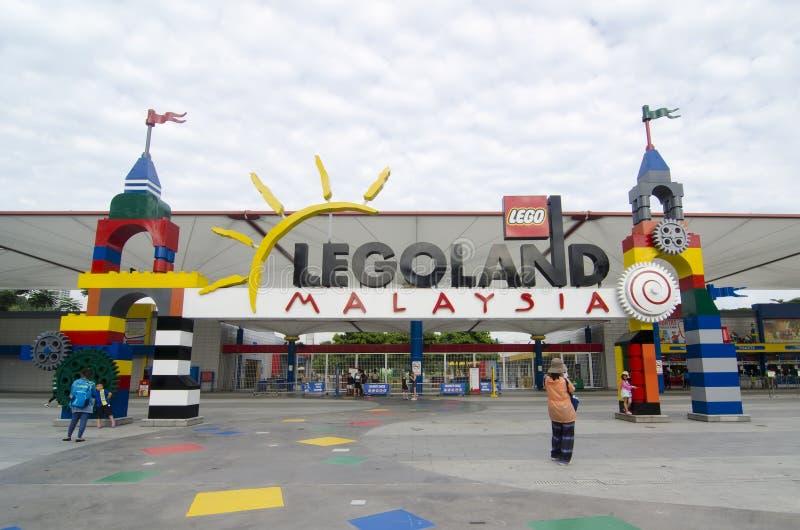 Puerta delantera de Legoland Malasia fotos de archivo libres de regalías