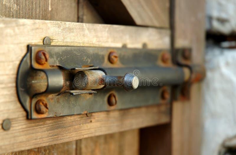 Puerta empernada fotos de archivo