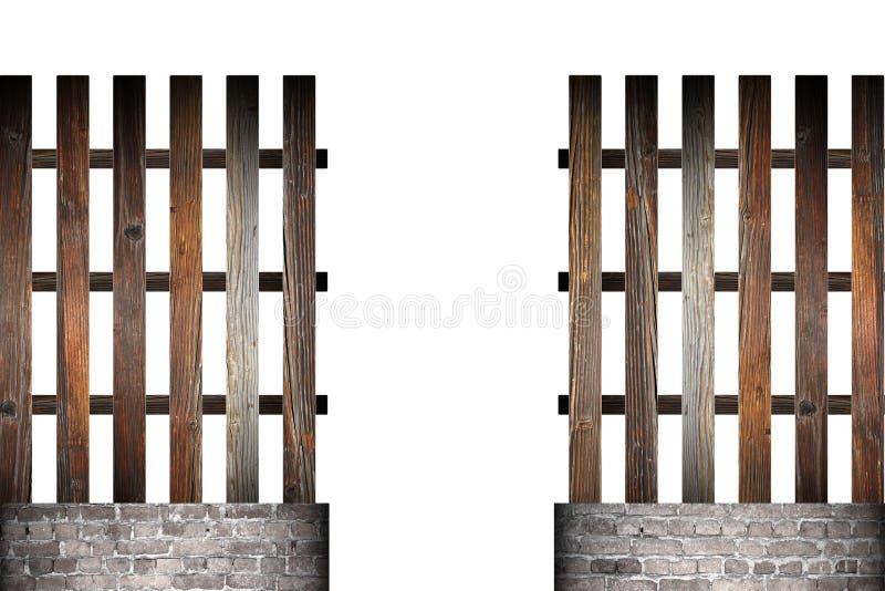 Puerta en la cerca simple de madera fotografía de archivo