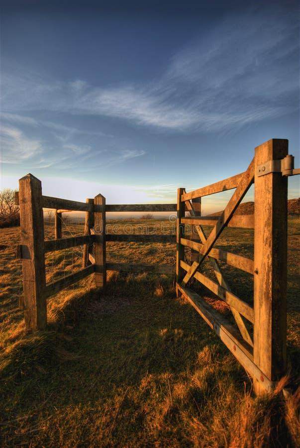 Puerta en las llanuras del sur foto de archivo libre de regalías