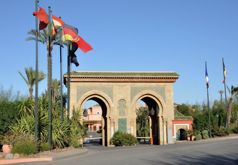 Puerta en Marrakesh imagen de archivo libre de regalías