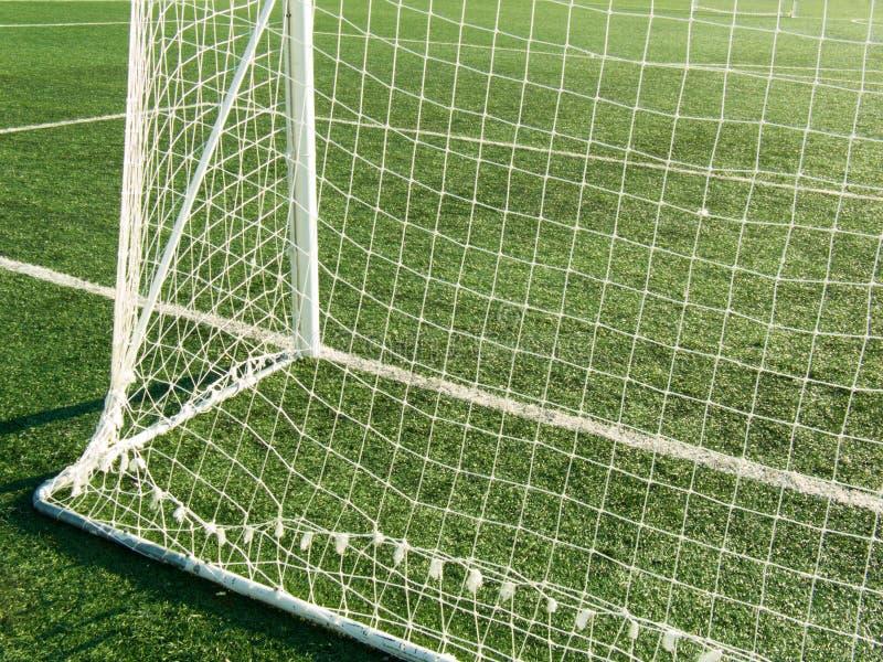 Puerta en un campo de fútbol imagen de archivo libre de regalías