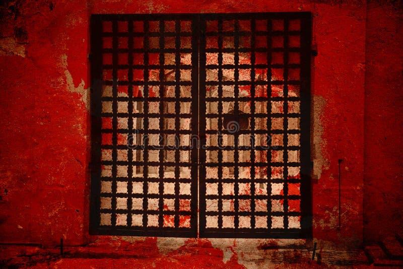Puerta fantástica La puerta al infierno imagen de archivo