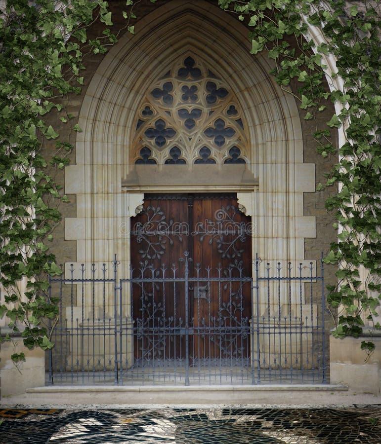 Puerta gótica 2 stock de ilustración
