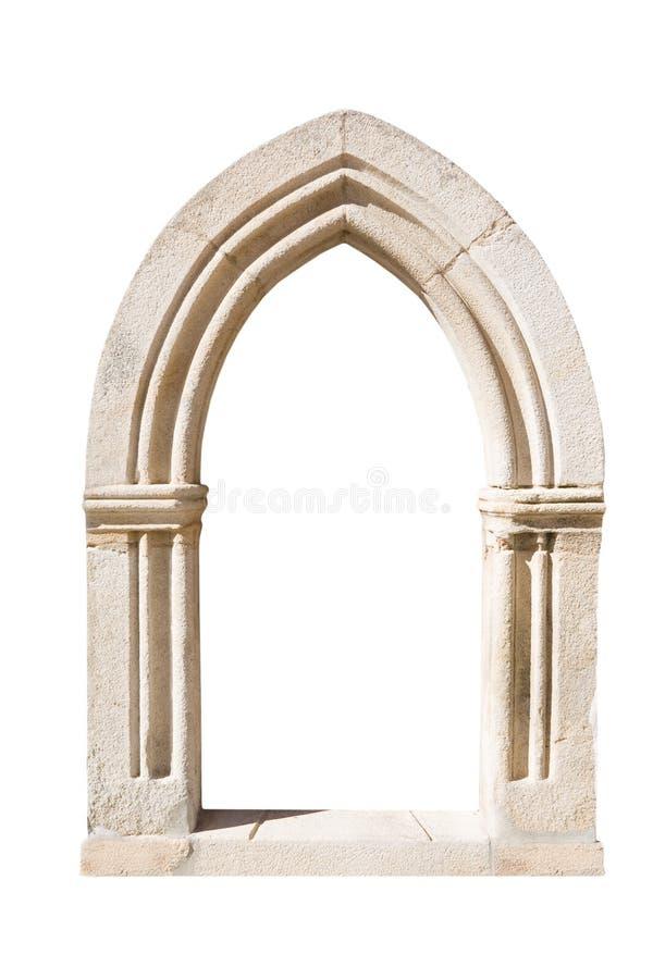 Puerta gótica original imagen de archivo libre de regalías