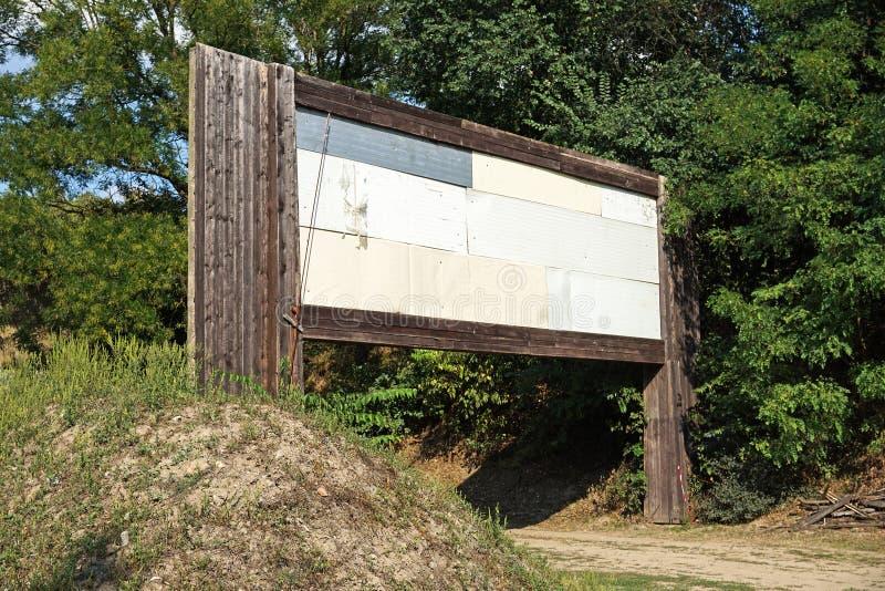 Puerta grande del área que tira imagen de archivo