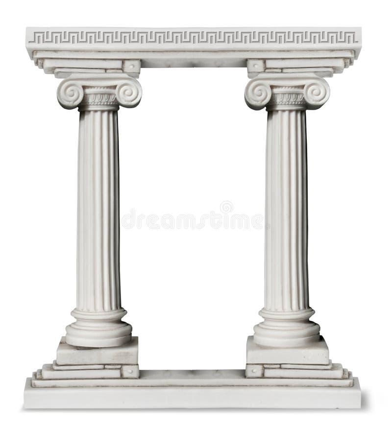 Puerta griega de las columnas fotografía de archivo libre de regalías