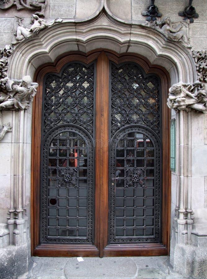 Puerta hermosa vieja imagenes de archivo