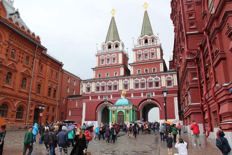 Puerta ibérica de la resurrección en el Kremlin fotos de archivo libres de regalías