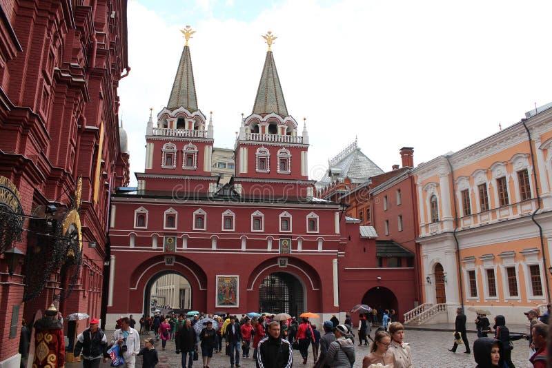 Puerta ibérica en el Kremlin, Moscú de la resurrección fotografía de archivo