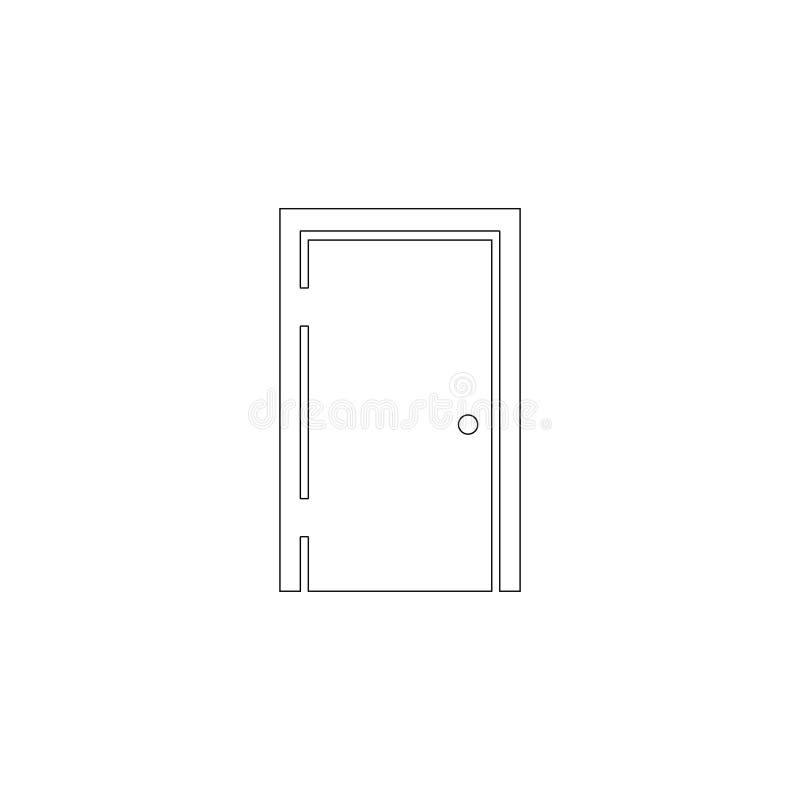 Puerta Icono plano del vector stock de ilustración
