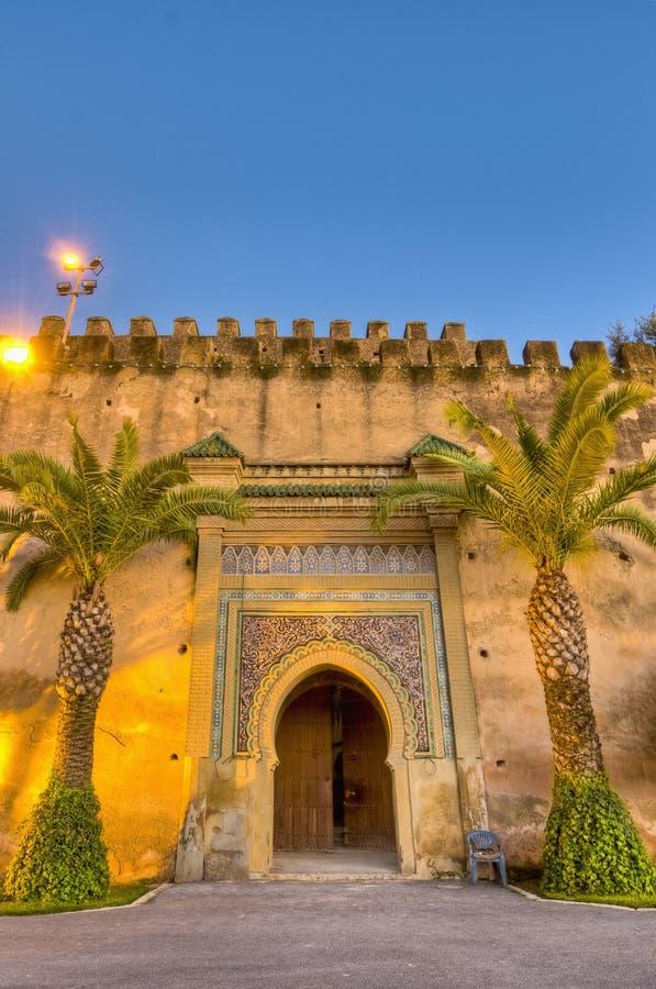 Puerta imperial en Meknes, Marruecos de la ciudad fotos de archivo libres de regalías