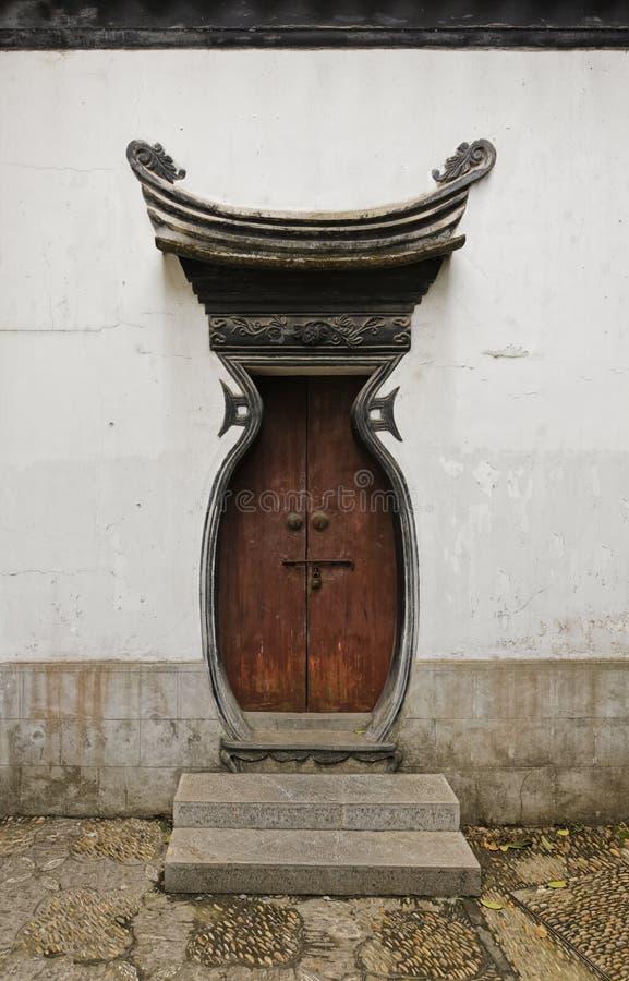 Puerta imperial vieja del chino del estilo fotos de archivo libres de regalías