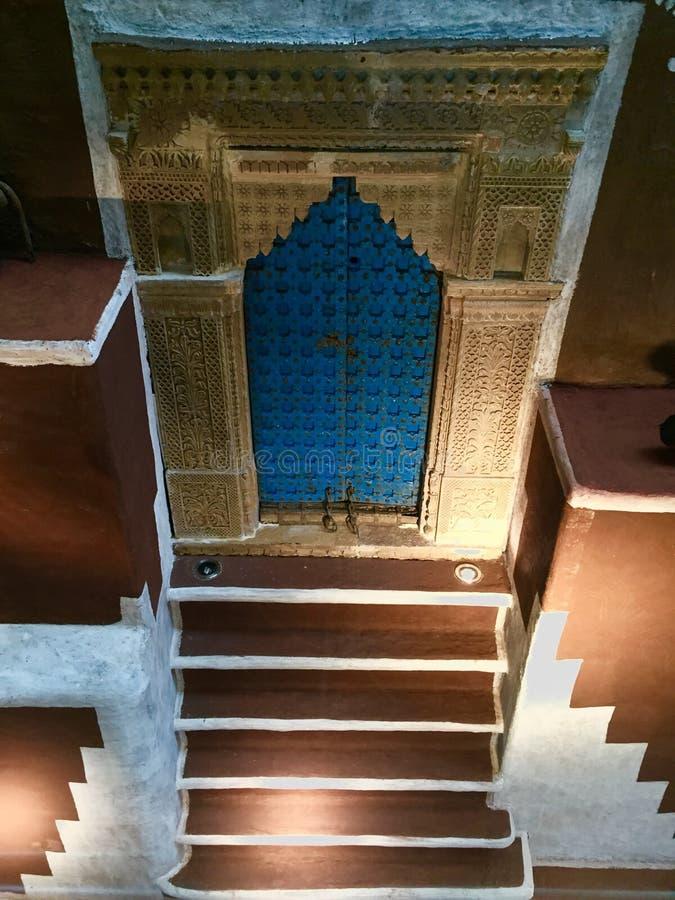 Puerta india rural fotografía de archivo