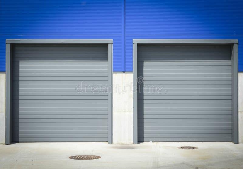 Puerta industrial del envío imagen de archivo