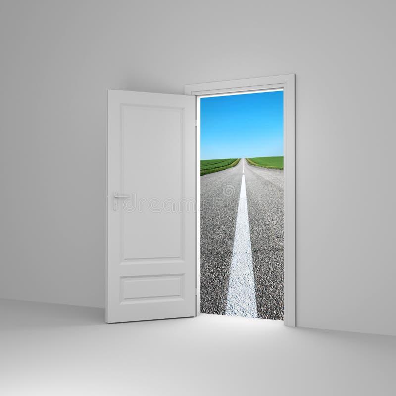 Puerta a la nueva manera ilustración del vector
