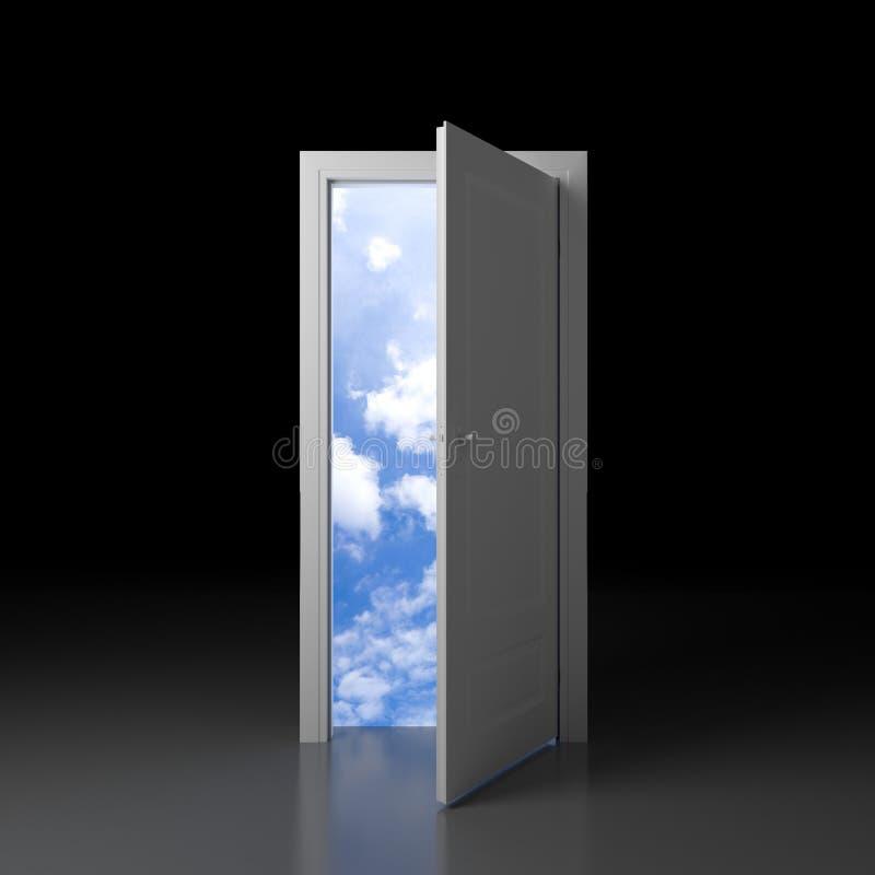 Puerta a la nueva realidad ilustración del vector
