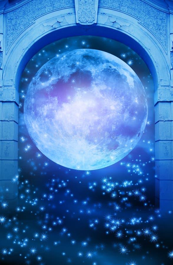 Puerta mágica de la luna libre illustration