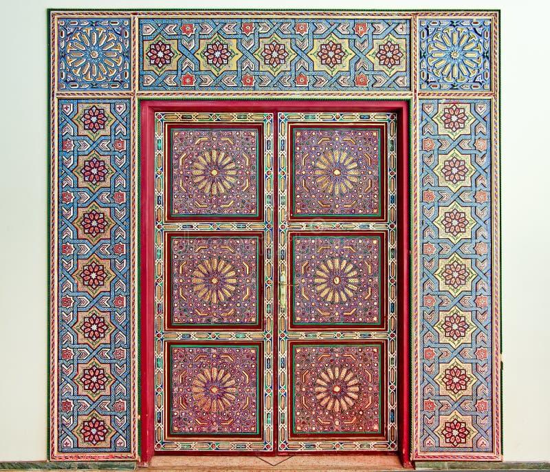 Puerta marroquí imágenes de archivo libres de regalías