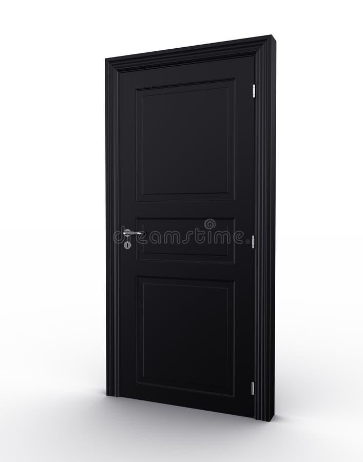 Puerta negra cerrada ilustración del vector