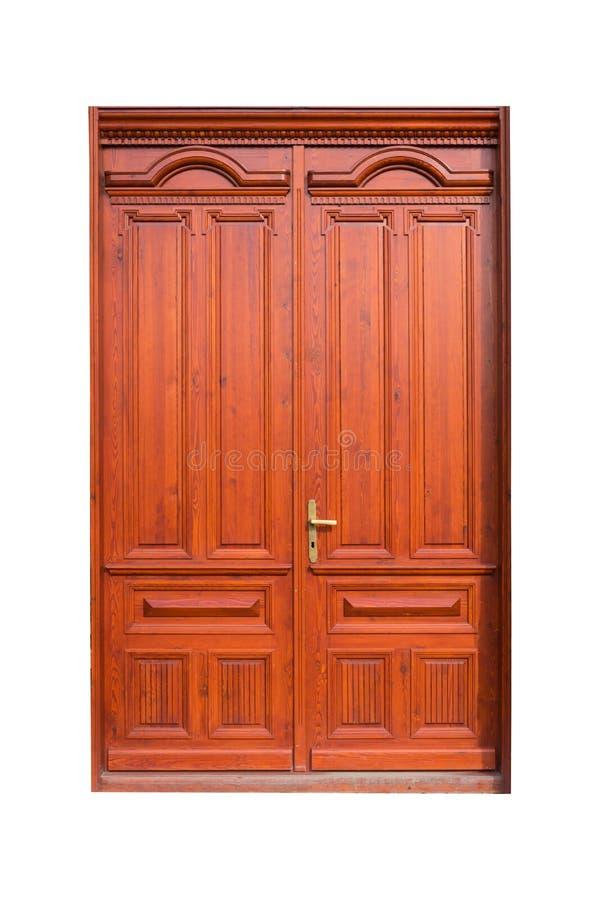 Puerta o puerta de madera imagenes de archivo