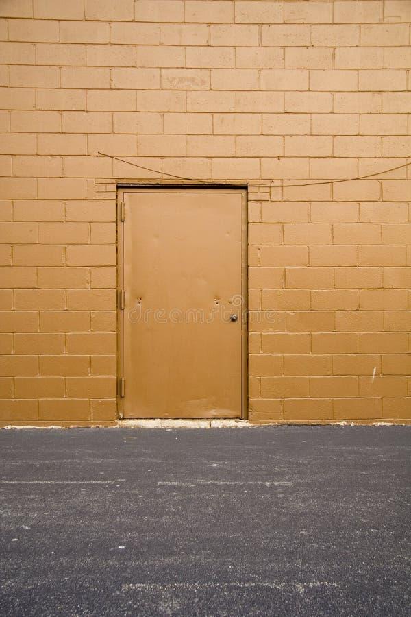Puerta posterior del callejón fotos de archivo