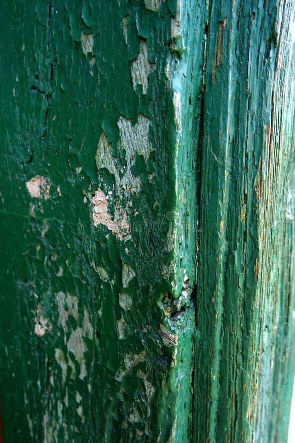 Puerta rascada foto de archivo