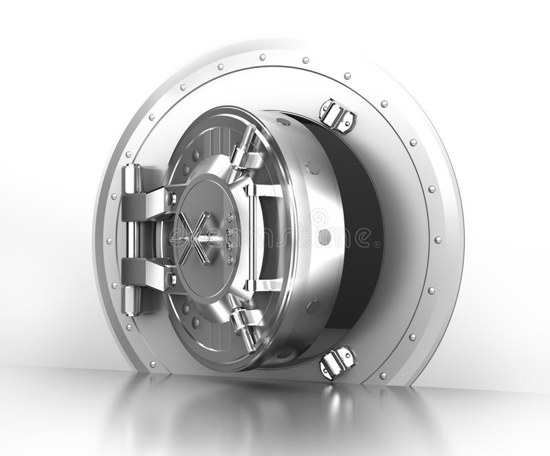 Puerta segura de la batería, concepto ilustración del vector