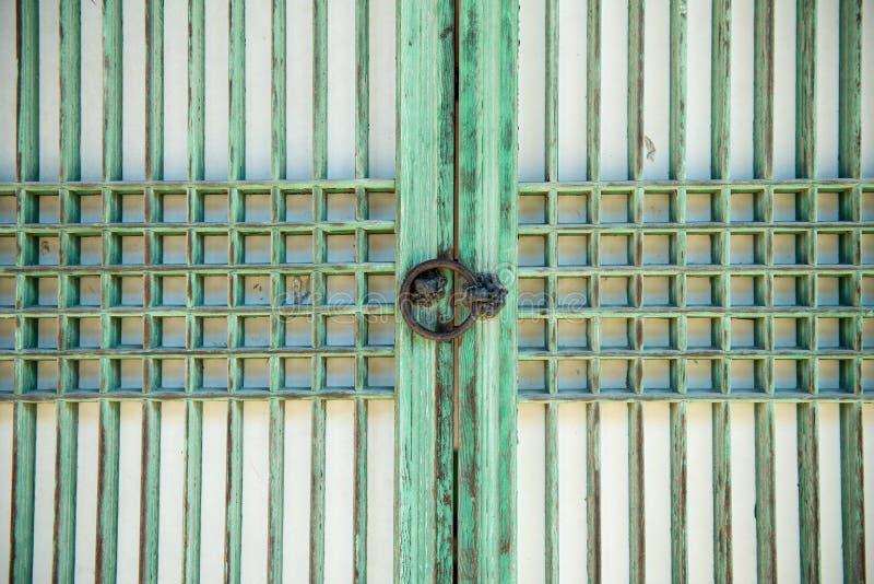 Puerta tradicional coreana foto de archivo