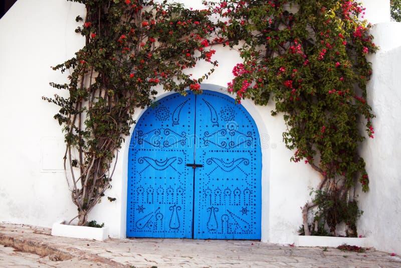 Puerta tunecina fotos de archivo libres de regalías