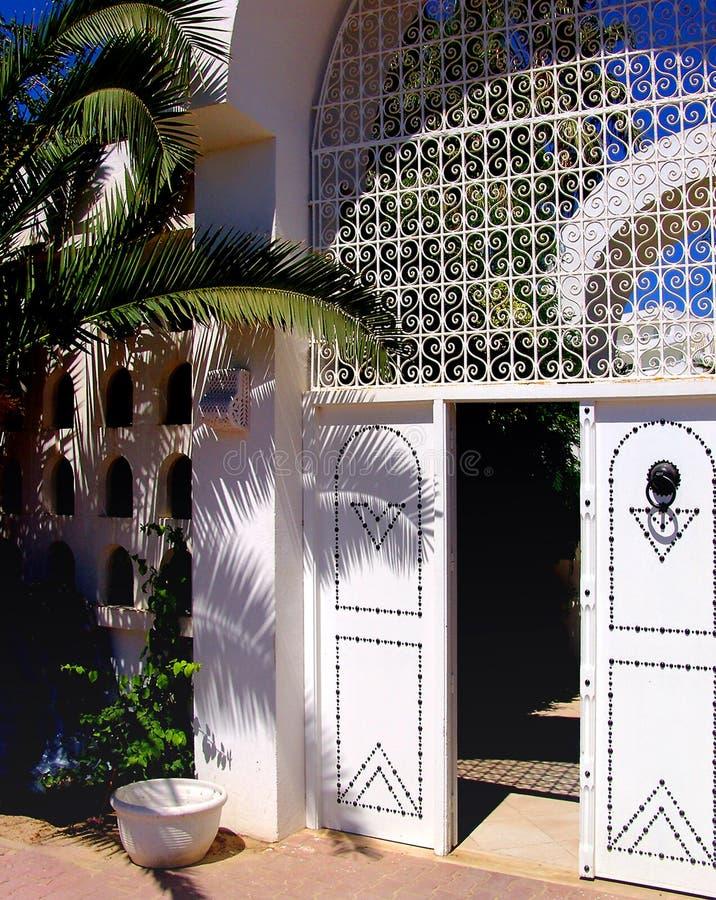 Puerta tunecina fotografía de archivo