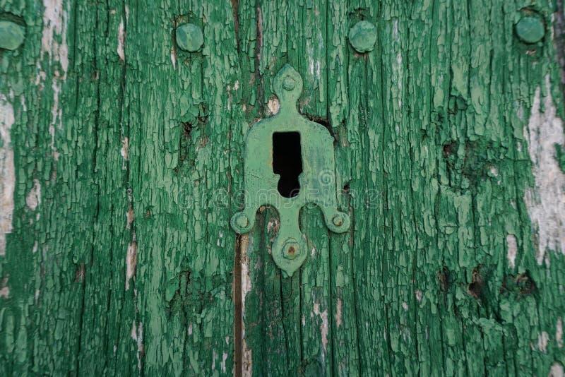 Puerta verde fotografía de archivo libre de regalías