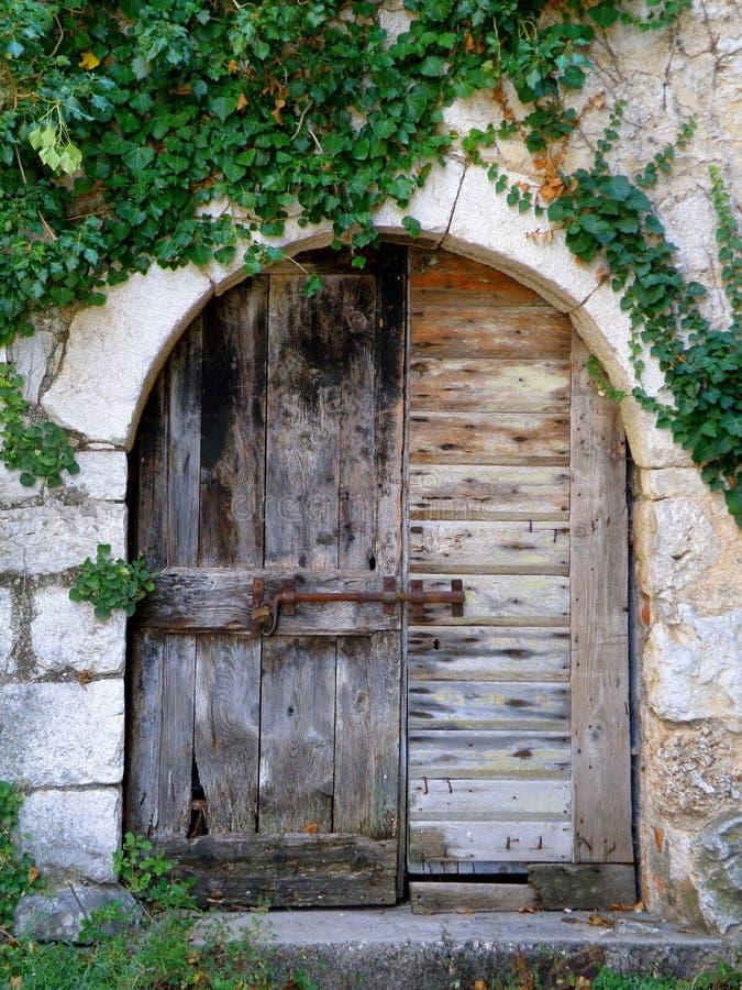 Puerta vieja fotografía de archivo