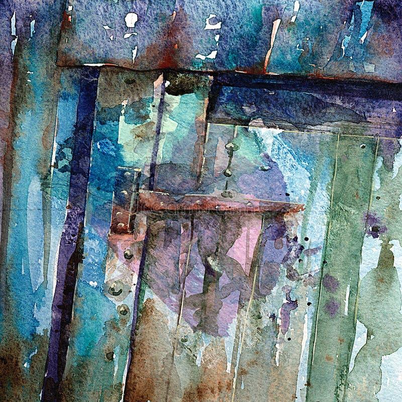 Puerta vieja de la granja stock de ilustración