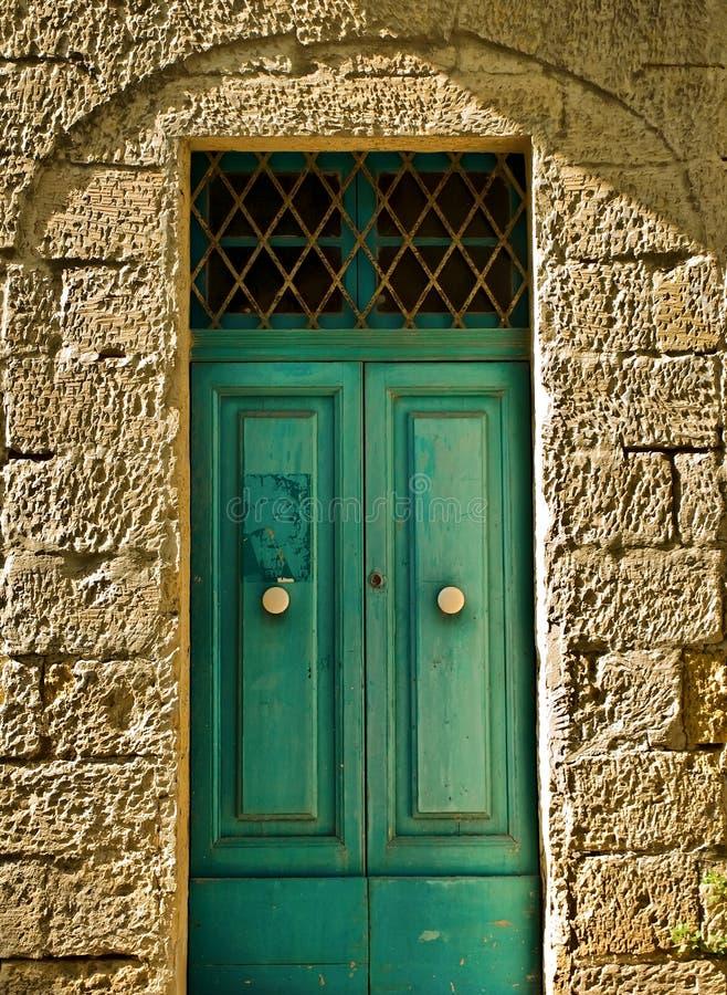 Puerta vieja del Aquamarine fotografía de archivo libre de regalías