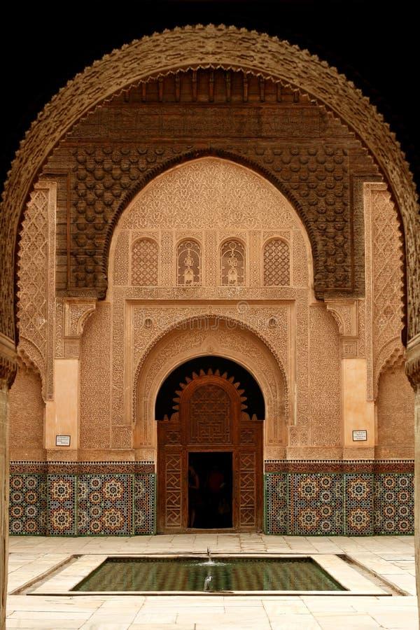 Puerta y arcadas de Marruecos fotos de archivo