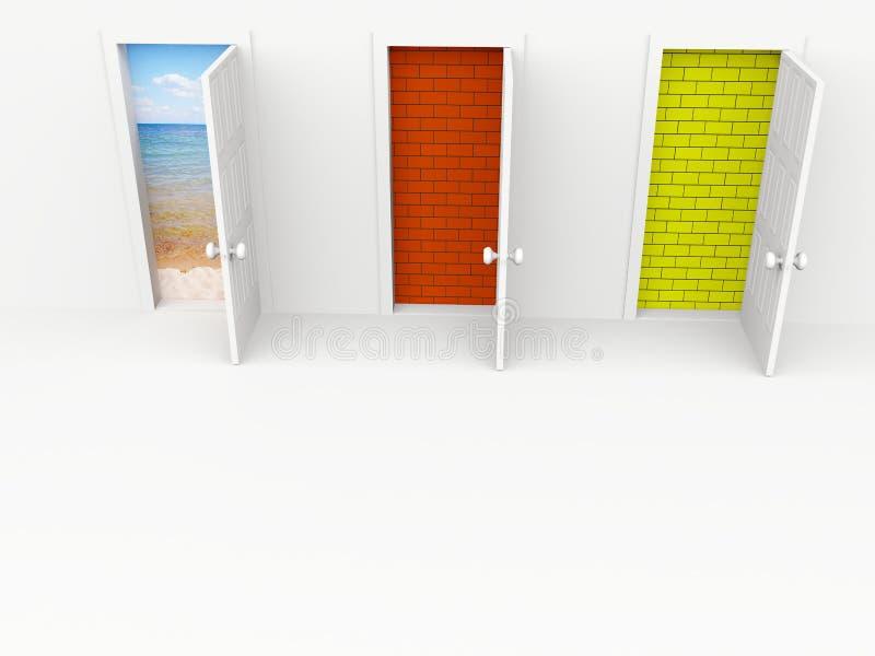 Puertas ilustración del vector