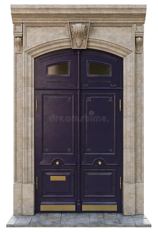 Puertas clásicas de la entrada fotos de archivo libres de regalías