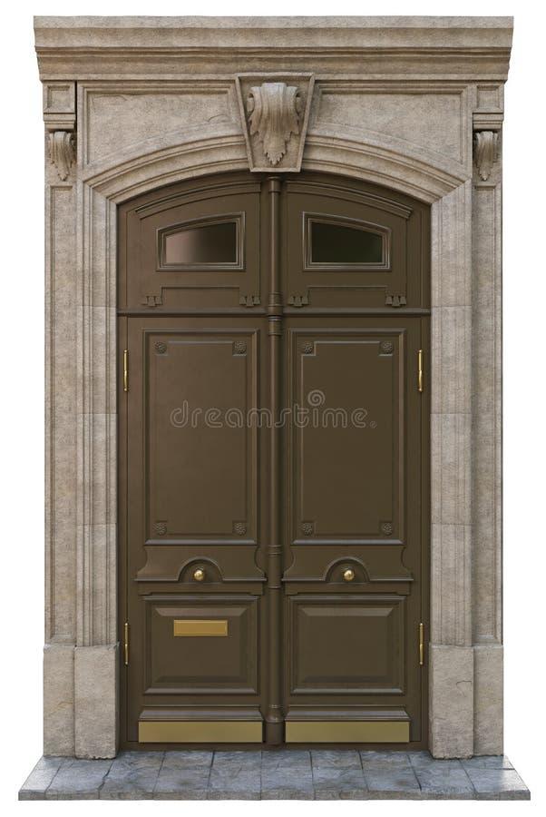 Puertas clásicas de la entrada imagen de archivo