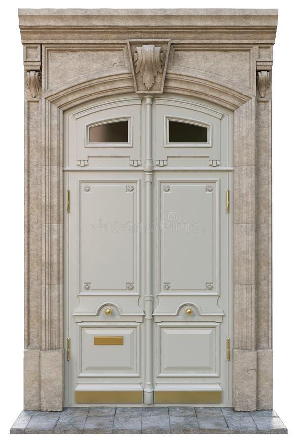 Puertas clásicas de la entrada fotografía de archivo libre de regalías